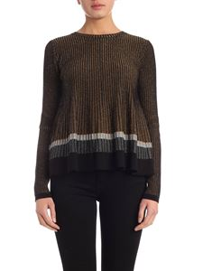 Twin-Set - Black and golden lamè sweater