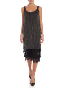 Twin-Set - Beads and sequins dress in black