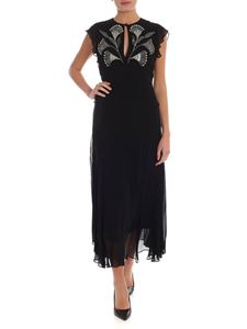 Twin-Set - Rhinestones and beads long dress in black