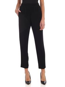 Twin-Set - Pantaloni in cady neri