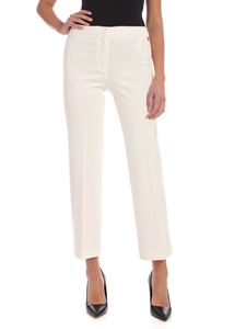 Twin-Set - Lace bands pants in white