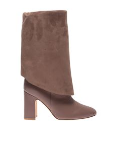 Stuart Weitzman - Lucinda boots in taupe color