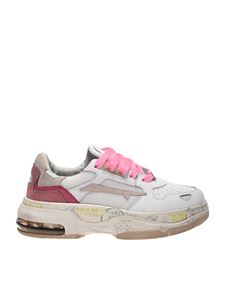 Premiata - Draked sneakers in white and pink