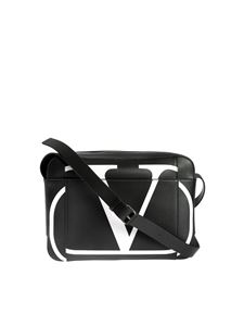 Valentino - VLOGO shoulder bag in black