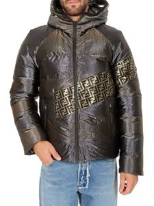 Fendi - Metallic tech fabric padded jacket