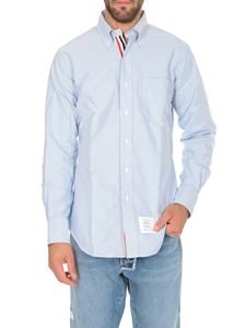 Thom Browne - Light blue button-down shirt with pocket