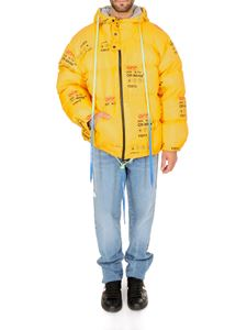 Off-White - Piumino Industrial Zipped Puffer giallo