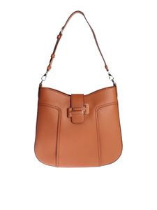 Tod's - Double T hobo medium bag in brick color