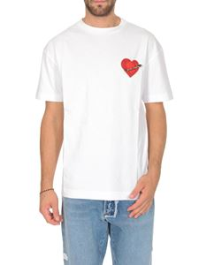 Palm Angels - My Heart Pin T-shirt in white