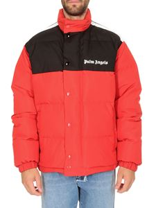 Palm Angels - Track puffer jacket in red