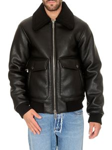 Dsquared2 - Faux Shearling bomber in black