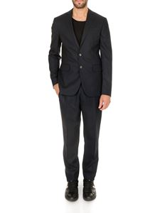 Dsquared2 - Pinstripe two-button suit in dark blue