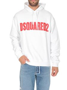 Dsquared2 - Logo print hoodie in white