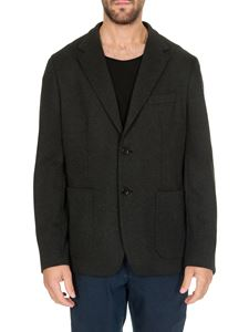 Fay - Checked jersey jacket in anthracite color