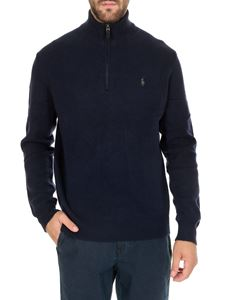 POLO Ralph Lauren - Dark blue turtleneck pullover with logo on the chest
