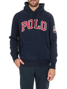 POLO Ralph Lauren - Blue sweatshirt with logo on the front