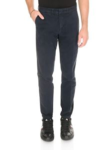 Fay - Chino trousers in blue stretch cotton