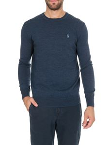 POLO Ralph Lauren - Blue melange pullover with logo on the chest