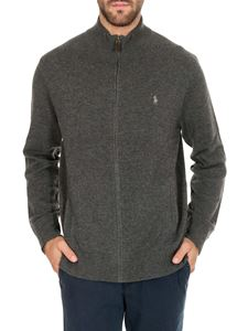 POLO Ralph Lauren - Grey cardigan with logo on the chest