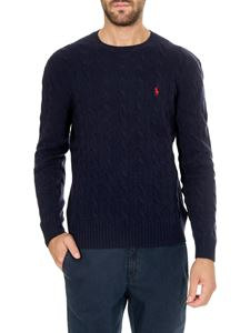 POLO Ralph Lauren - Blue cable knitted pullover