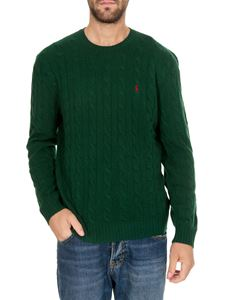 POLO Ralph Lauren - Green cable knitted pullover