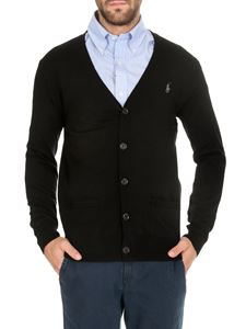 POLO Ralph Lauren - Black cardigan with embroidered logo