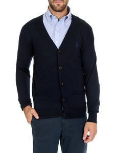 POLO Ralph Lauren - Blue cardigan with embroidered logo