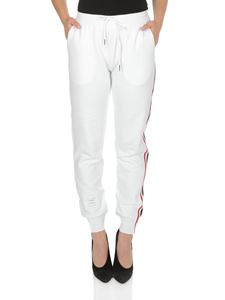 Thom Browne - White sweatpants with side band