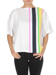 Marni - Boat neck t-shirt with colored bands