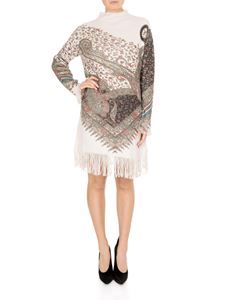 Etro - Jacquard dress with fringed edges