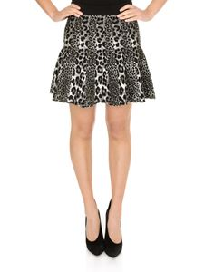 Michael Kors - Short pleated animal print skirt