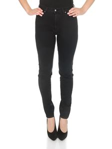 Fay - 5 pockets trousers in black