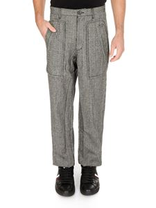 Comme Des Garçons Shirt  - Checked wool trousers in black