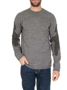 Comme Des Garçons Shirt  - Sweater in gray with inserts on the sleeves