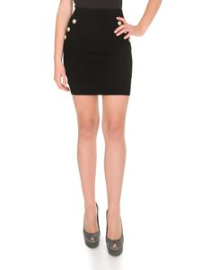 Balmain - Knitted miniskirt in black
