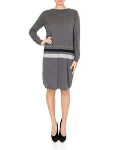 Fabiana Filippi - Grey dress with striped pattern