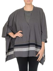 Fabiana Filippi - Virgin wool blend cape with eco-brass detail