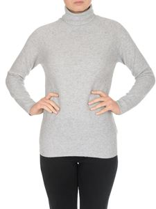 Fabiana Filippi - Wool and cashmere turtleneck in light grey color