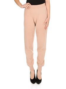 Fabiana Filippi - Casual pants in salmon pink color wool