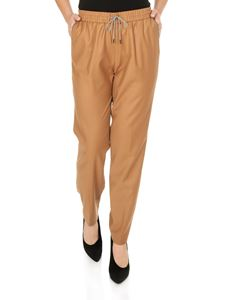 Fabiana Filippi - Pants in camel color with micro-beads