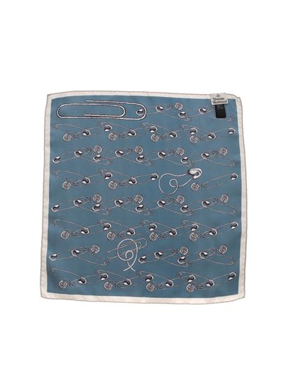 Vivienne Westwood  - Pochette PS Safety Pin color ottanio