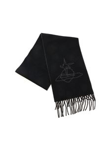 Vivienne Westwood  - Scribble Orb scarf in black and gray