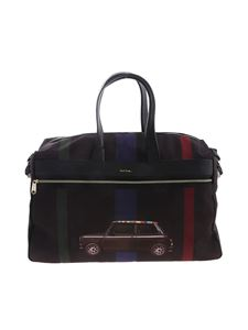 Paul Smith - Borsa da viaggio Mini Stripe nera