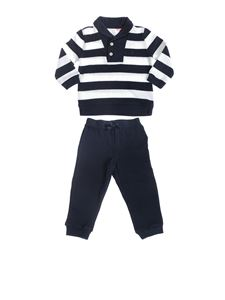 POLO Ralph Lauren - Cotton sweatsuit with striped sweatshirt