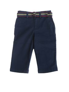 POLO Ralph Lauren - Blue pants with fabric belt