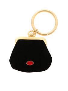 Lulu Guinness - Mini Lip Pin charm coin purse in black