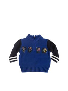POLO Ralph Lauren - Ski Bear cotton sweater in blue