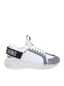 Moschino - Teddy Run sneakers in white and silver