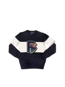 POLO Ralph Lauren - Polo Bear sweater in navy and white