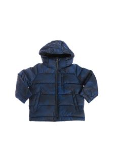 POLO Ralph Lauren - Camouflage hooded down jacket in blue